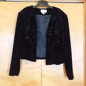 Adrianna Papell Black Beaded Blazer Jacket 22W
